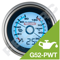 REDARC Oil Pressure And Water Temperature Gauge With Optional Temperature Display