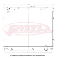 PWR Toyota Landcruiser 100 & 105 Series 55mm Radiator (510mm Tall Core) Automatic