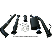 "TOYOTA LANDCRUISER 76 SERIES VDJ76 WAGON 4.5L V8 9/2016>3"" TURBO BACK CARBON OFFROAD EXHAUST WITH CAT & PIPE"